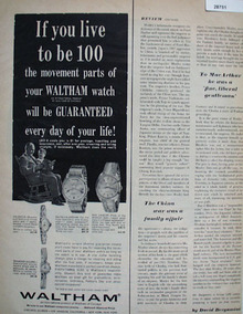 Waltham of Chicago Ad June 17, 1966