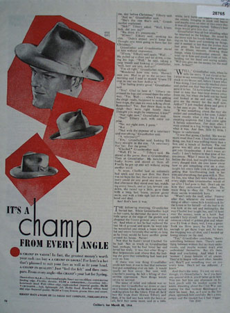 Champ Hats Ad March 25, 1944