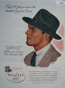 Mallory Hat Ad April 21,  1945