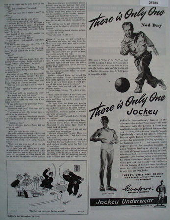 Jockey Underwear Ad November 24, 1945