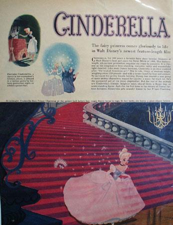 Cinderella Movie Preview Ad 1950