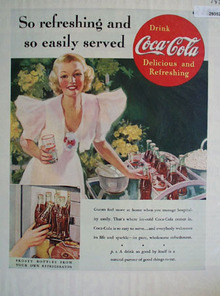 Coca Cola So Easily Served Ad 1937