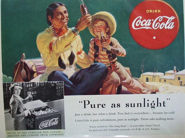 Coca Cola Pure as Sunlight Ad 1938