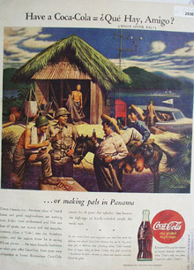 Coca Cola Making Pals in Panama Ad 1944