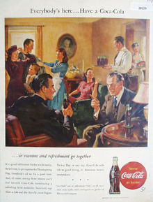 Coca Cola Everybody Is Here Ad 1946