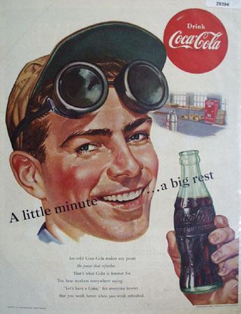 Coca Cola A Little Minute Big Rest Ad 1952