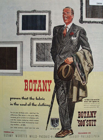 Botany worsted mills Ad April 1, 1944