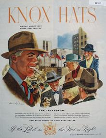 Knox the Hatter Ad October 20, 1945