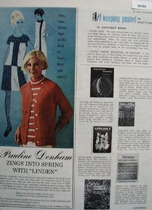 Pauline Denham Yarns Ad 1968