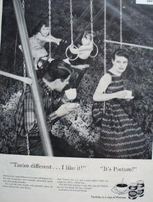 Postum Swing set ad 1957