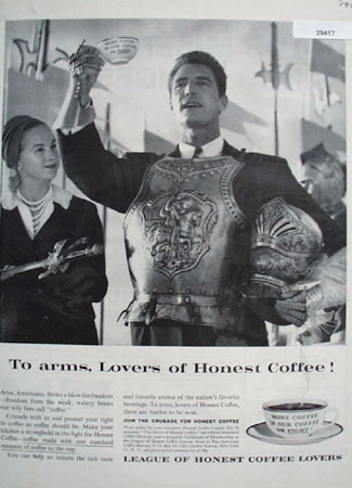League of honest coffee lovers Ad 1960