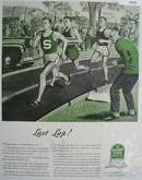 1945 Quaker State Ad shows track runners