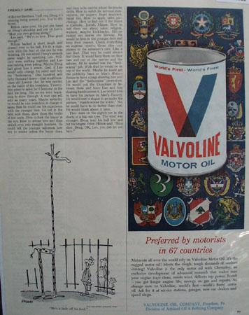 Valvoline Oil Co Color Ad