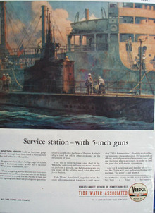 Veedol Motor oil Ad Shows a Navy Submarine