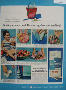 Scott Towel Ad July, 1964