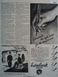 Estetrbrook Pen Co Ad September 23, 1944