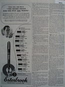 The Esterbrook Pen Co Ad August 25, 1945