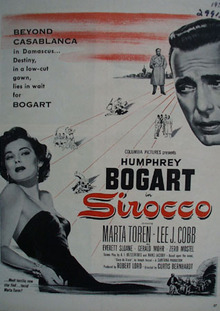 Sirocco With Hunphrey Bogart Movie Ad 1951