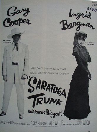 Saratoga Trunk With Gary Cooper Movie Ad 1946