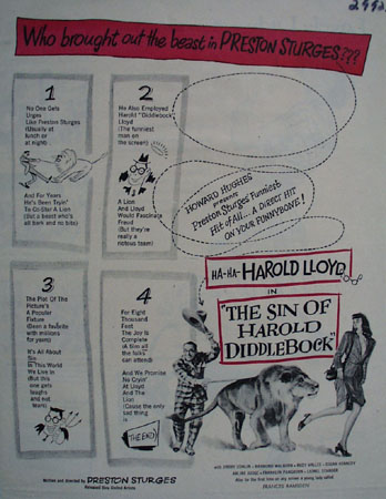 The Sin of Harold Diddlebock Harold Lloyd Movie ad 1947