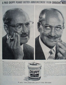 Groucho Marx and Skippy Peanut Butter Ad 1960