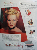 Max Factor and Virginia Mayo Ad 1945