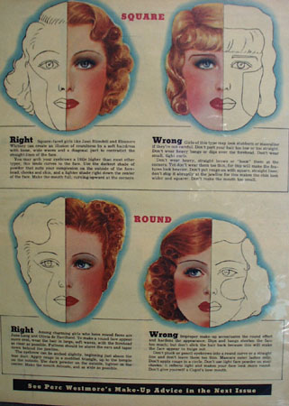 Be Sure Make Up Fits Face Article and Pictures 1938