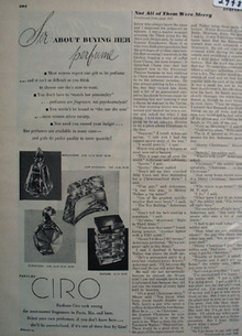Ciro Perfumes Sir About Buying Her Perfumes Ad 1940s
