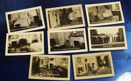 Mini postcards of Washingtons house