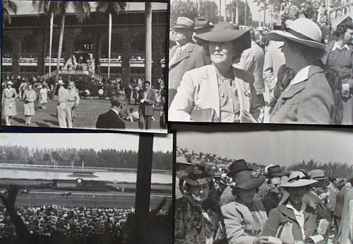 Vintage Horse Track Photos 1937