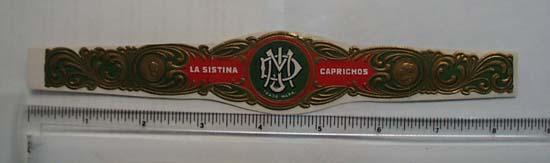 Vintage La Sistina Caprichos Cigar Band