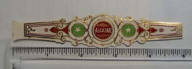 Vintage Alcazar Cigar Band