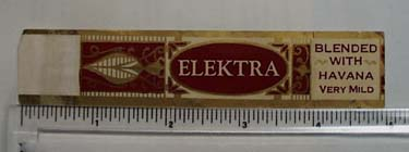 Vintage Elektra Cigar Label