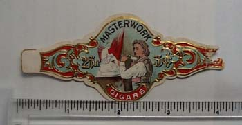 Vintage Masterwork cigar label