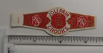 Vintage KS co cigar label