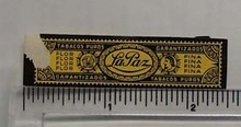 Vintage LaPaz Cigar Band from Netherlands