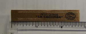 Vintage La Cachimba Cigar Band