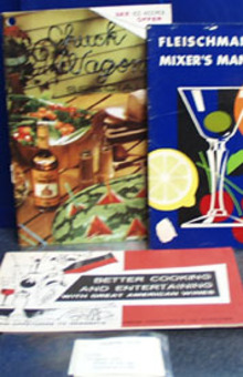 3 Alcohol Recipe Booklets and 6 Flip Cards 20th Century