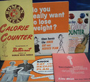 5 Calorie Counter Cookbooks 1950 to 1977