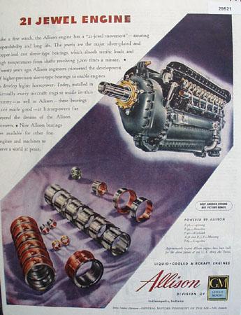 G M Allison Engine 1945 Ad