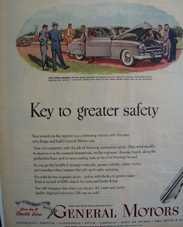 General Motors 1949 Two Page Ad