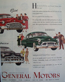 General Motors 1950 Two Page Ad