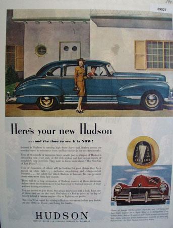 Hudson 1946 Ad