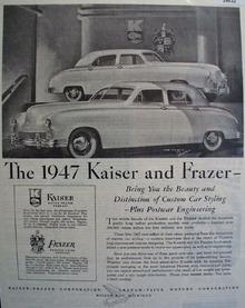 Kaiser Frazer Car 1946 Ad