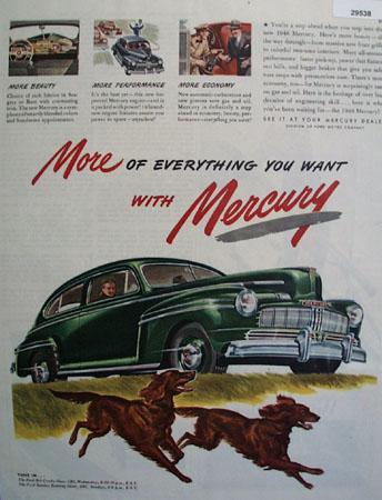 Mercury Car 1946 Ad