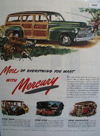 Mercury Station Wagon 1946 Ad
