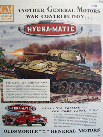 Oldsmobile Hydra Matic 1945 Ad