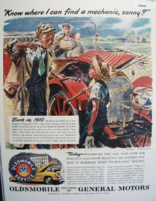 Oldsmobile Car 1945 Ad