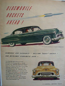 Oldsmobile Futuramic Car 1950 Ad