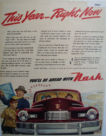 Nash Motor Car 1946 Ad